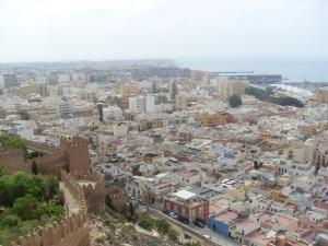 Blick von der Alcazaba auf Almer¡a