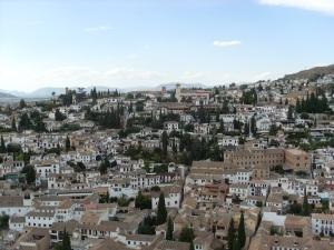 Blick von der Alcazaba auf die Altstadt (Albaic¡n)