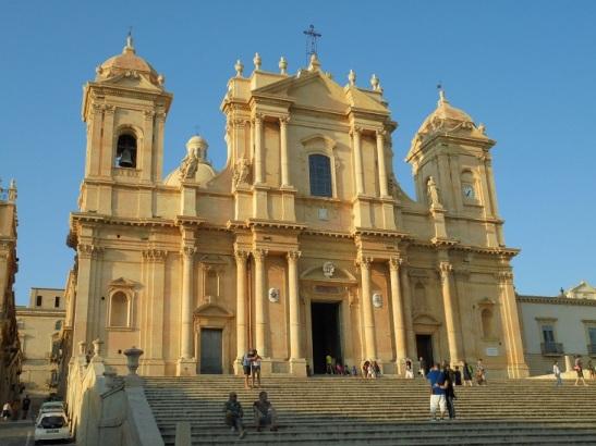 03 Kathedrale von Noto im Abendlicht